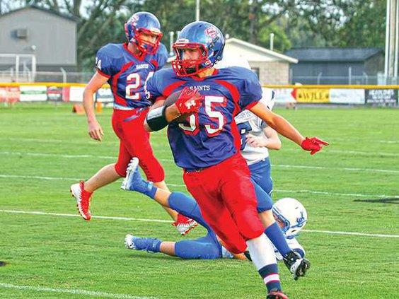 MS Josh May runs