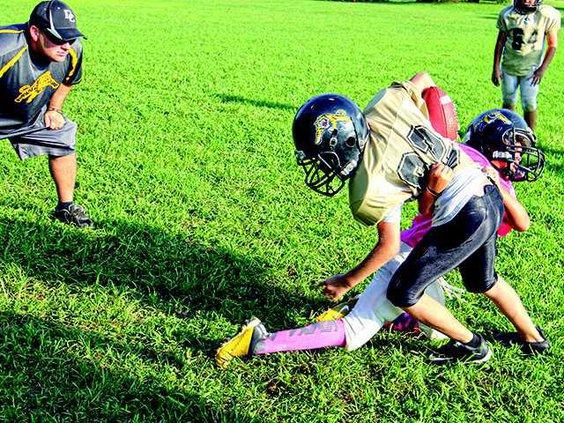 girl tackles