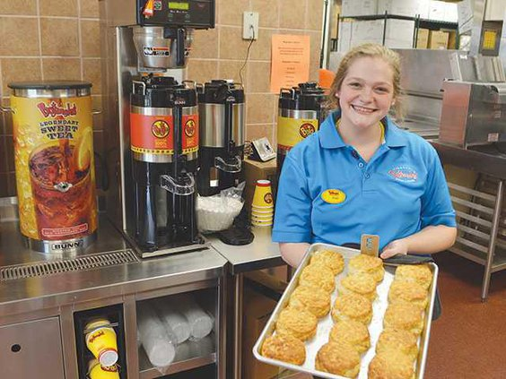 Bojangles biscuit girl