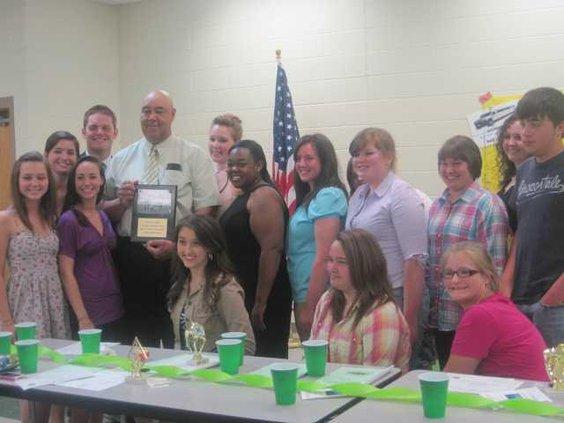 High school members with Mr. Officer.JPG