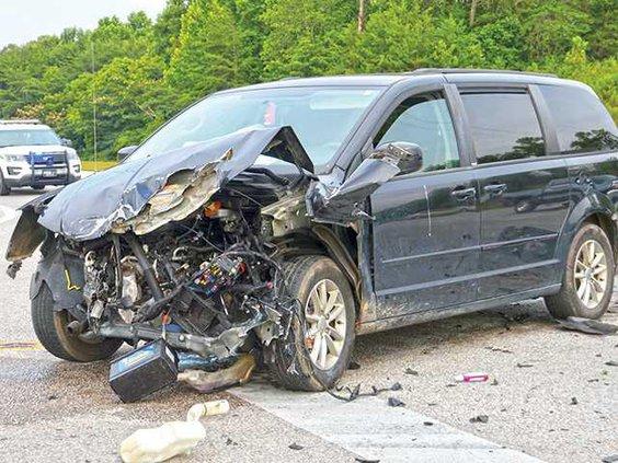 Sparta Highway wreck MINIVAN