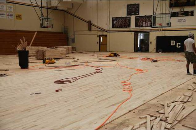 The floor in the DCHS gym is being replaced for the first time since 1963..JPG