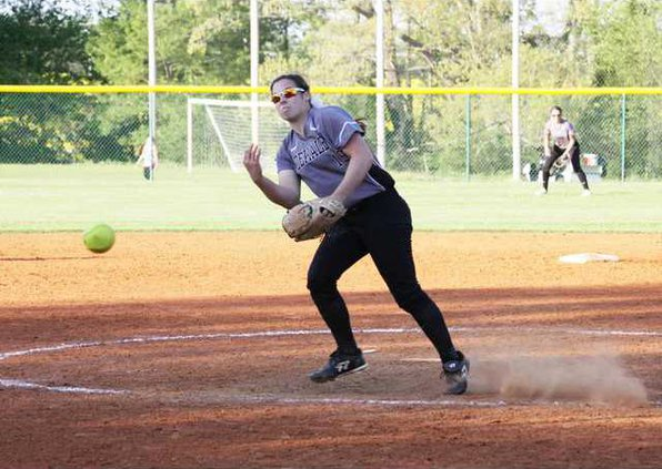 Kayley Caplinger arms another one across the plate RV photo