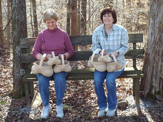 white oak basket making pic