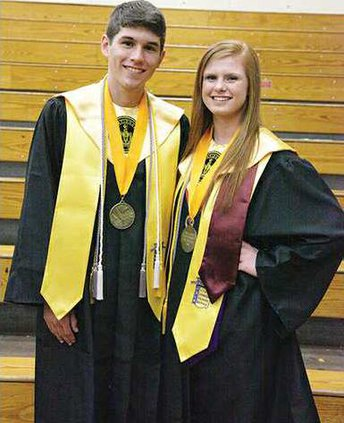 Salutatorian Max Pafford and Valedictorian Ashli Chew took home the two largest total scholarship amounts at the DCHS Awards  ceremony.