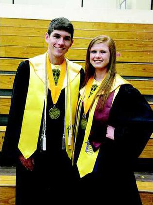 Salutatorian Max Pafford and Valedictorian Ashli Chew took home the two largest total scholarship amounts at the DCHS Awards  ceremony..tif