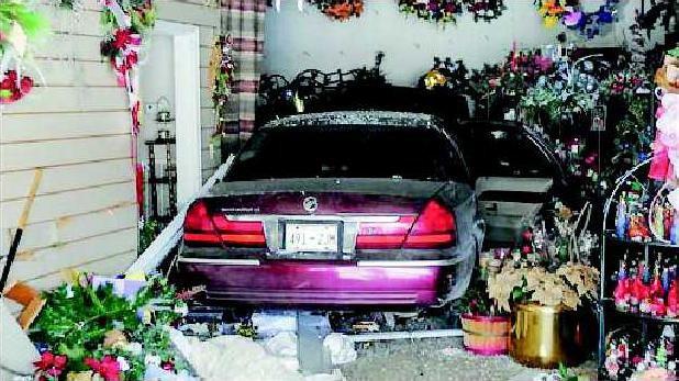 Matheny Car Hits Shop t618