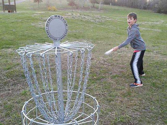 Disc golf photo color