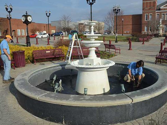 cleaning fountain