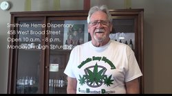 David Lunsford at the Smithville Hemp Dispensary