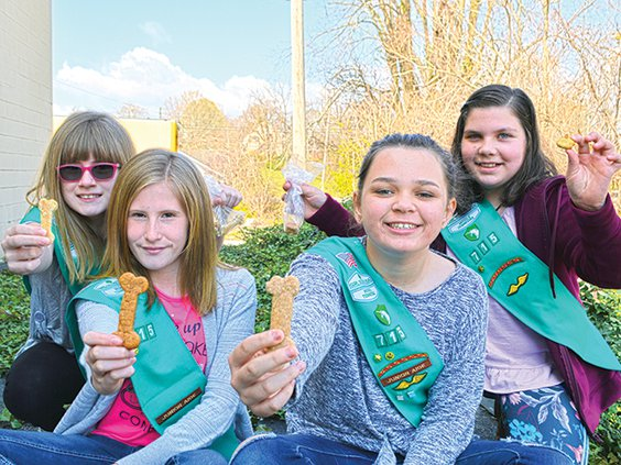 Girl Scouts hoping to help animals.jpg