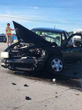 Three injured in head-on crash
