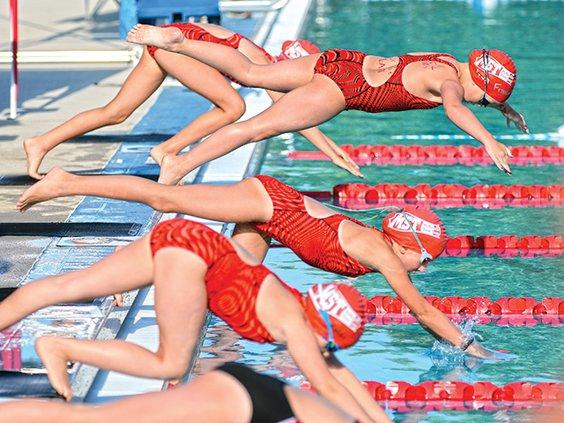 Swim team group dive.jpg