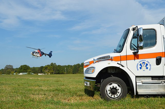 Toddler airlifted from Short Mountain Road
