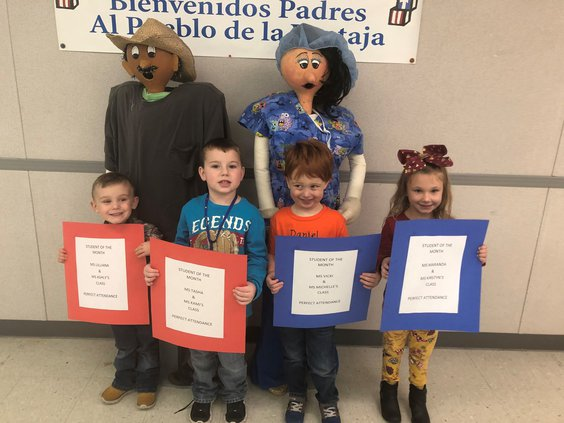 Students of the month revealed