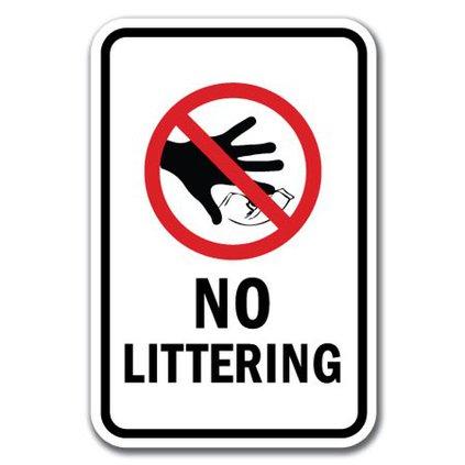 littering no