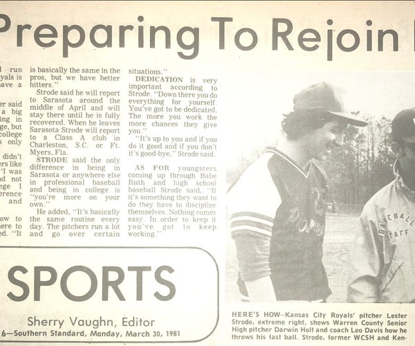 1981 - Strode rejoining Royals.jpeg