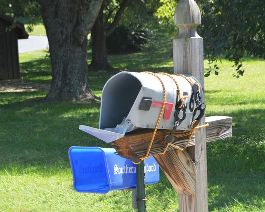 Mailbox damage in Westwood