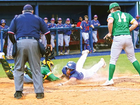 Kason Holder Tagged Out with Potential Tying Run 4-23.jpg