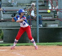 Rhealee Johnson at Bat with Ball 4-20.jpg